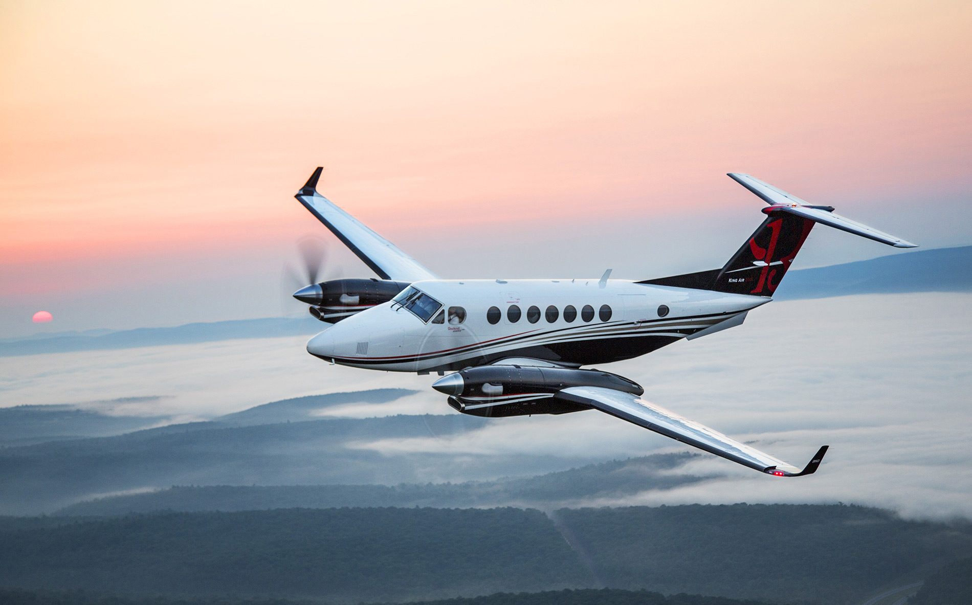 Beechcraft King Air 350 in flight